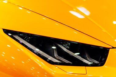Head Lights Of Luxurious Sports Car